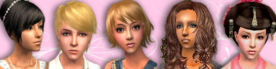 XM sims 3, sims 2, free downloads, hair, objects, skins, houses